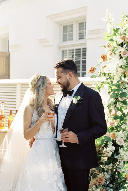 Bride and Groom Wedding Toast
