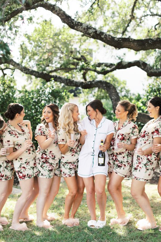 Bridesmaids in Matching Pajamas