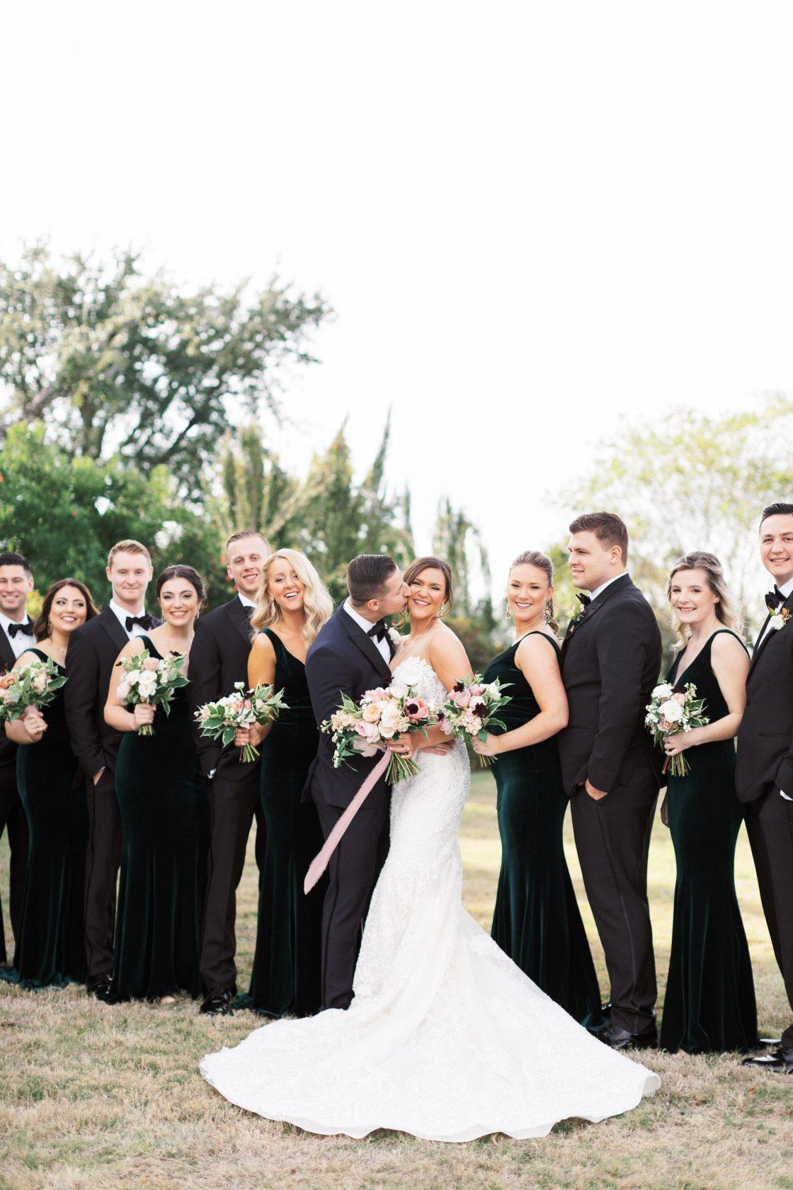 Dark Elegant Bridal Party