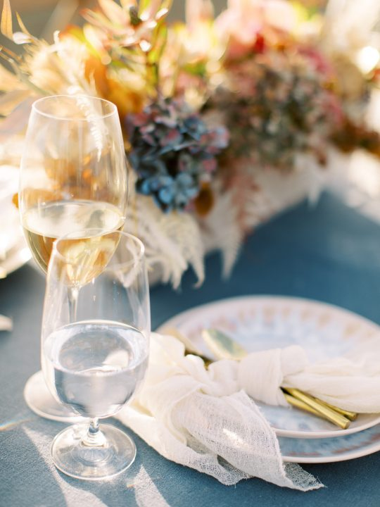 Driftwood and Linen Wedding Place Setting