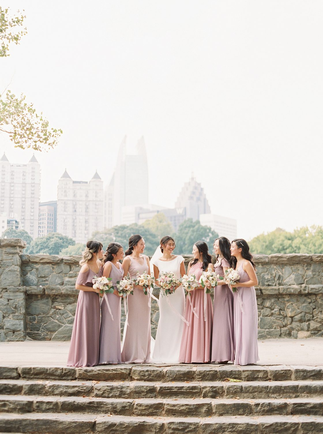 Dusty Rose Blush Bridesmaids Dresses