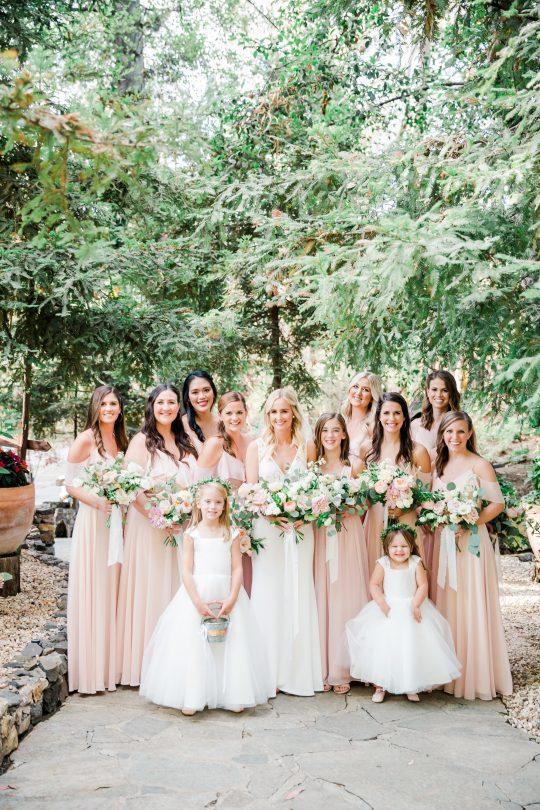 Elegant Blush Bridesmaids Dresses