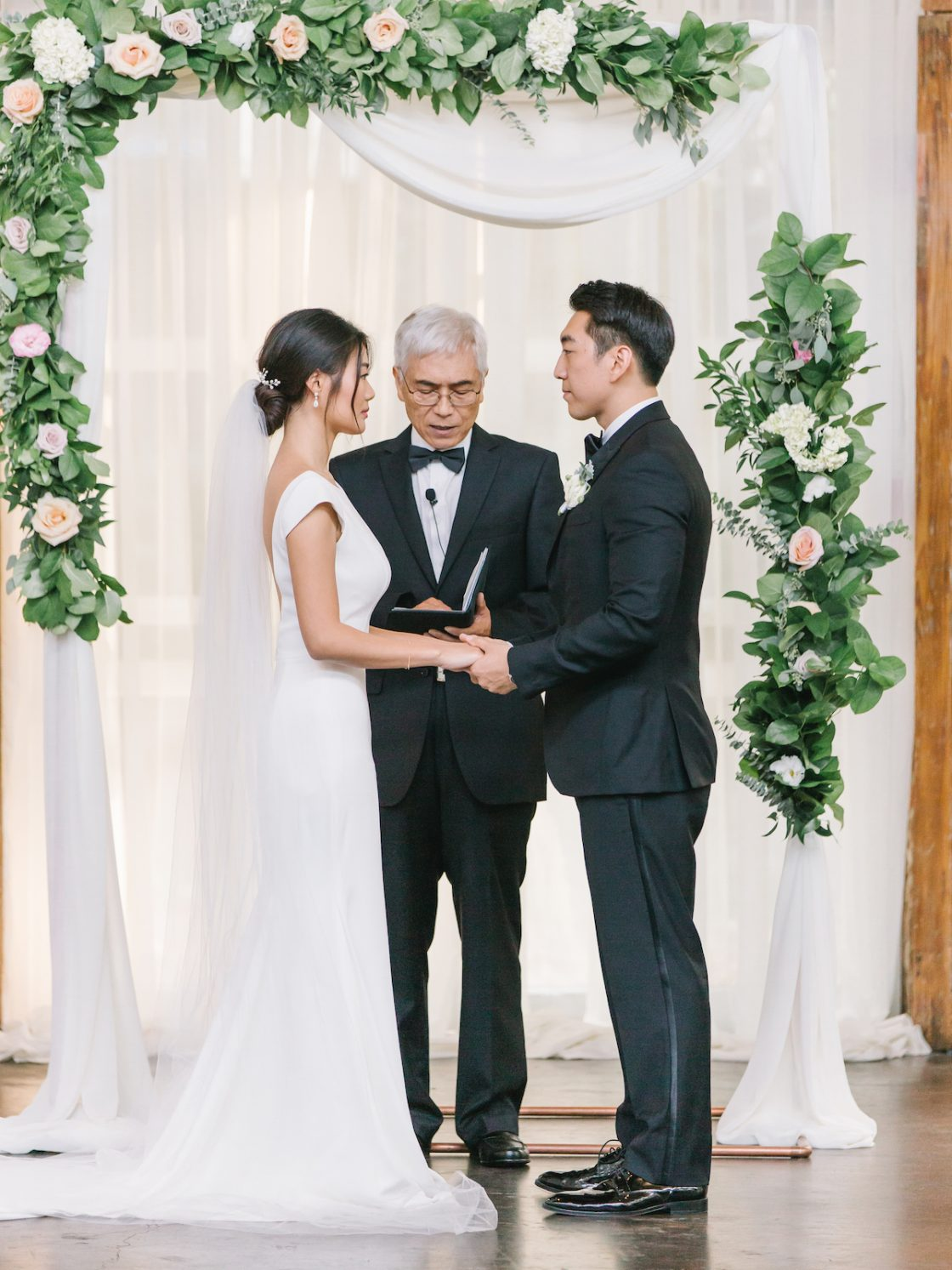 Elegant Rose Ceremony Arch
