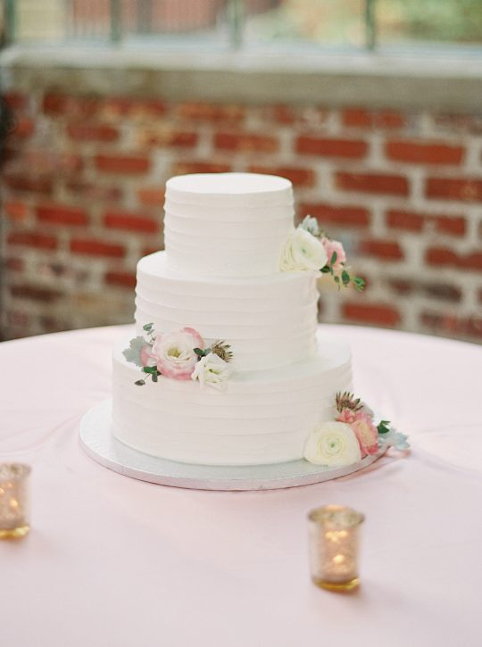 Elegant Simple White Wedding Cake