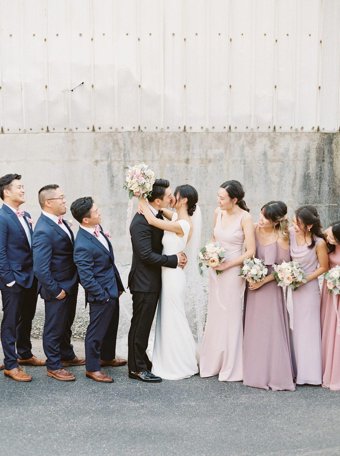 Elegant Urban Wedding Photo