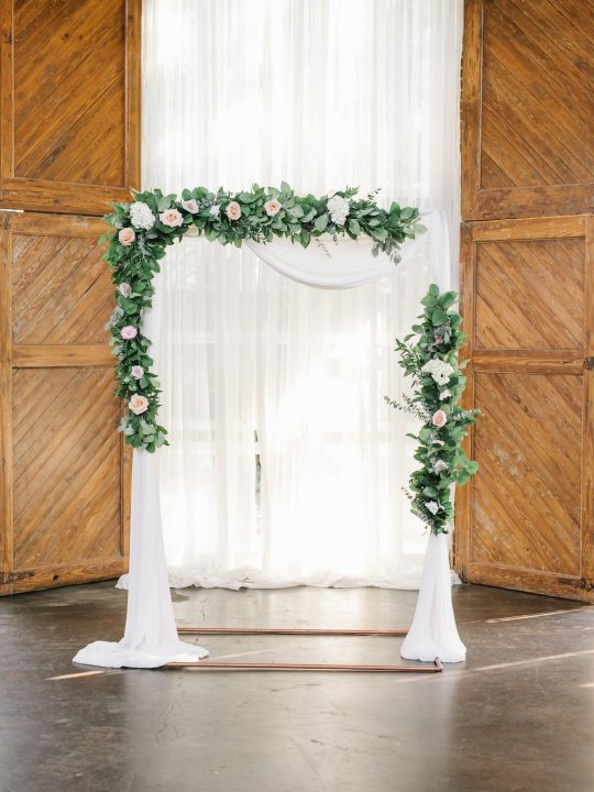 Eucalyptus Rose Wedding Ceremony Arch