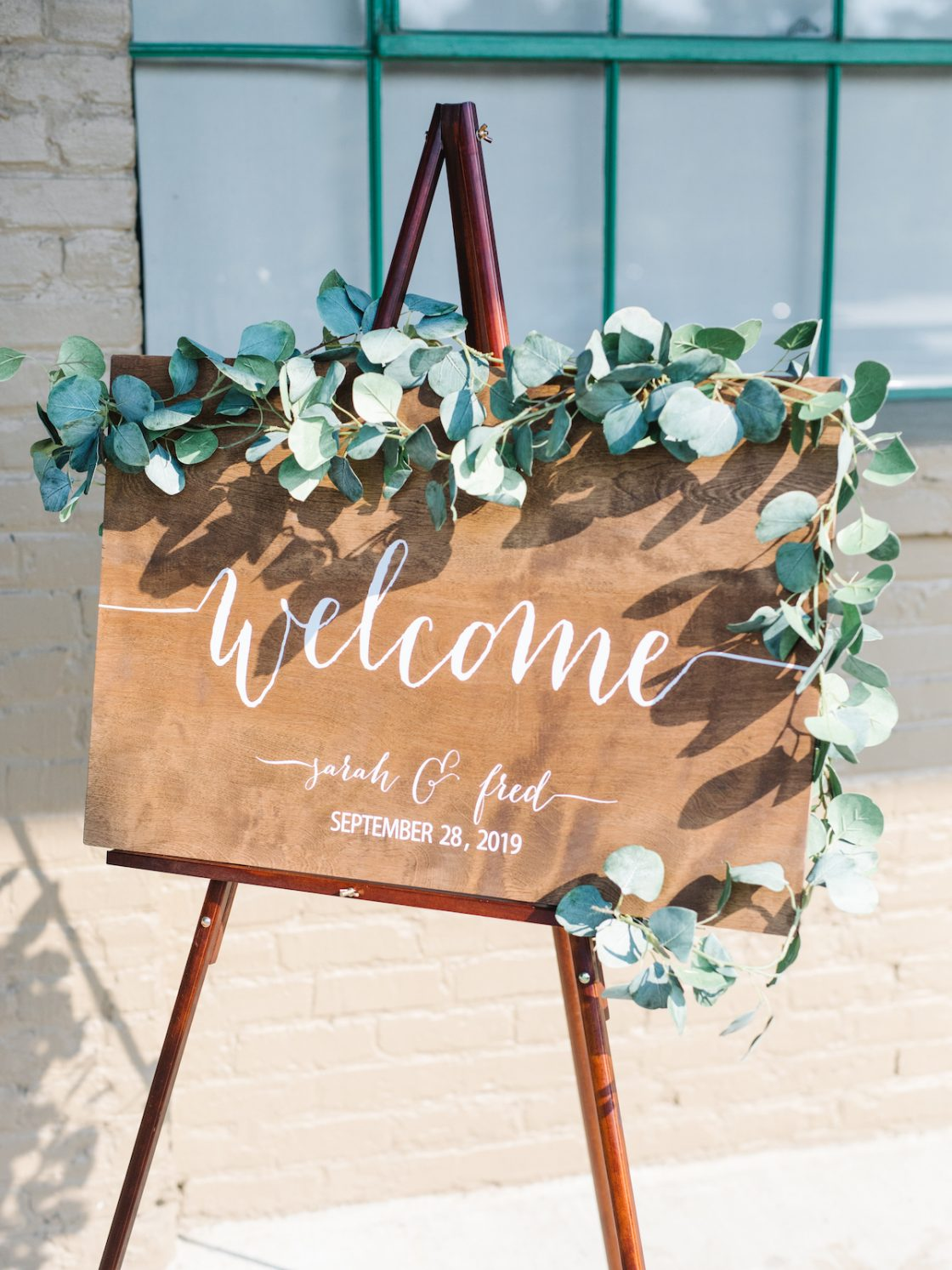 Eucalyptus Wooden Wedding SIgn