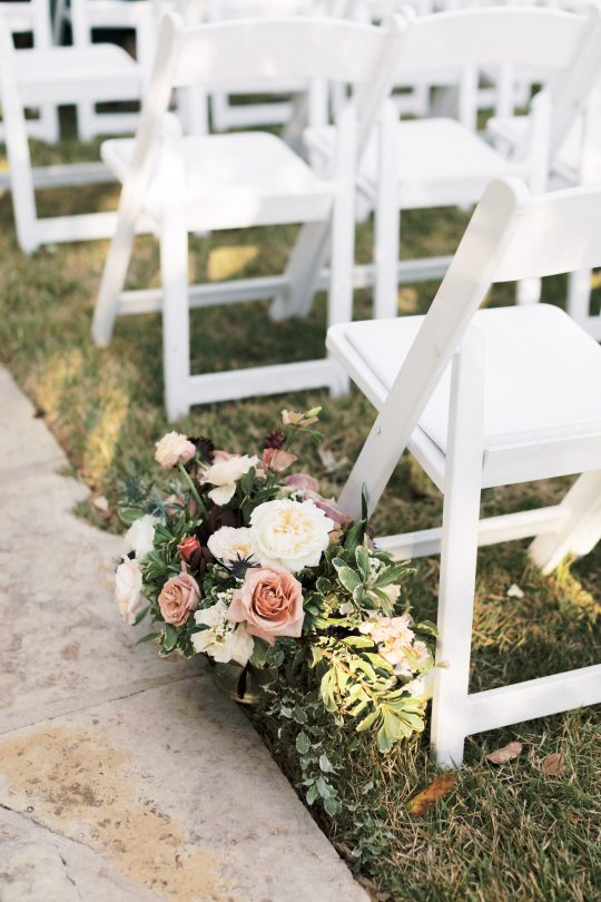 Floral Ceremony Aisle Decor