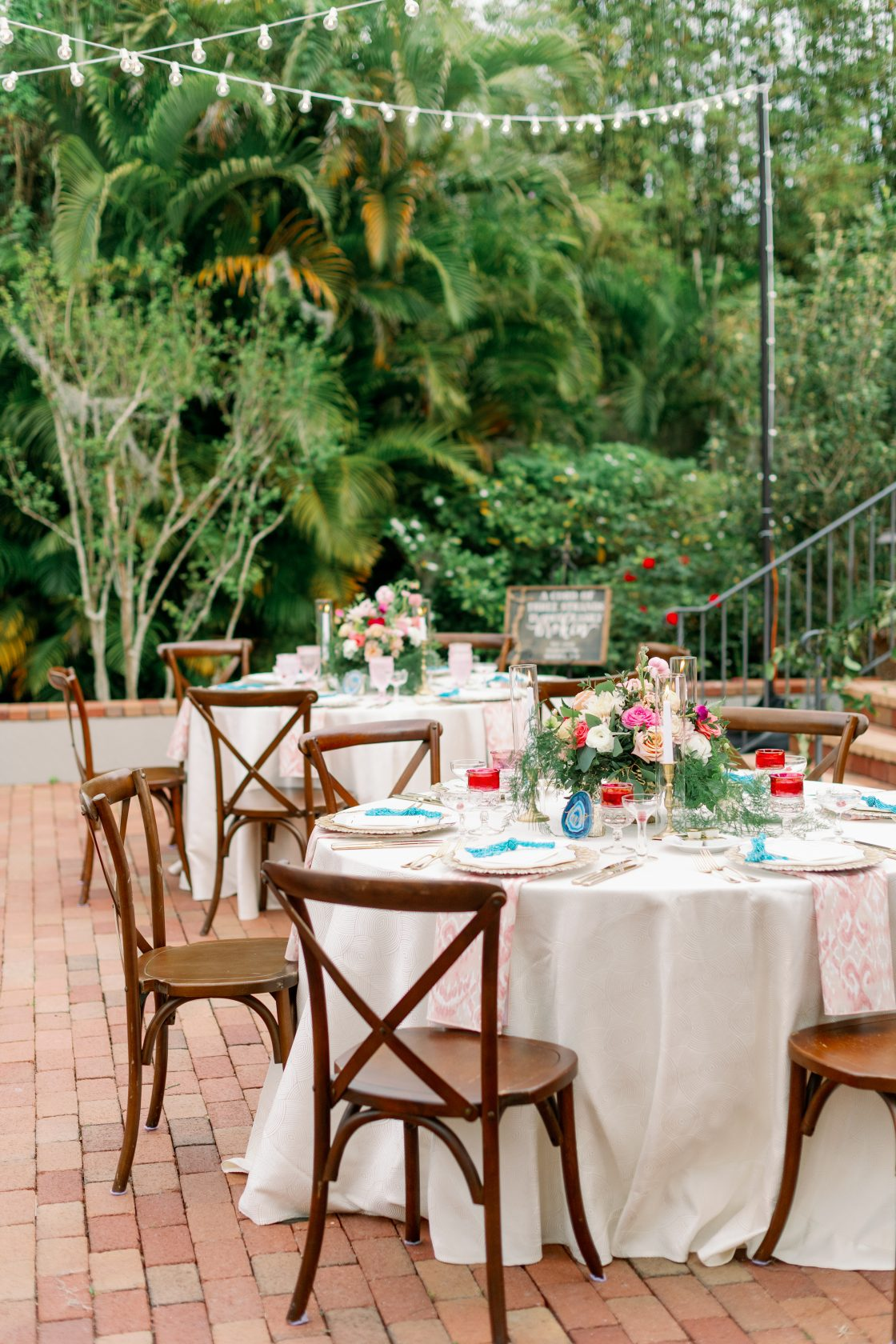 Florida Garden Wedding Reception