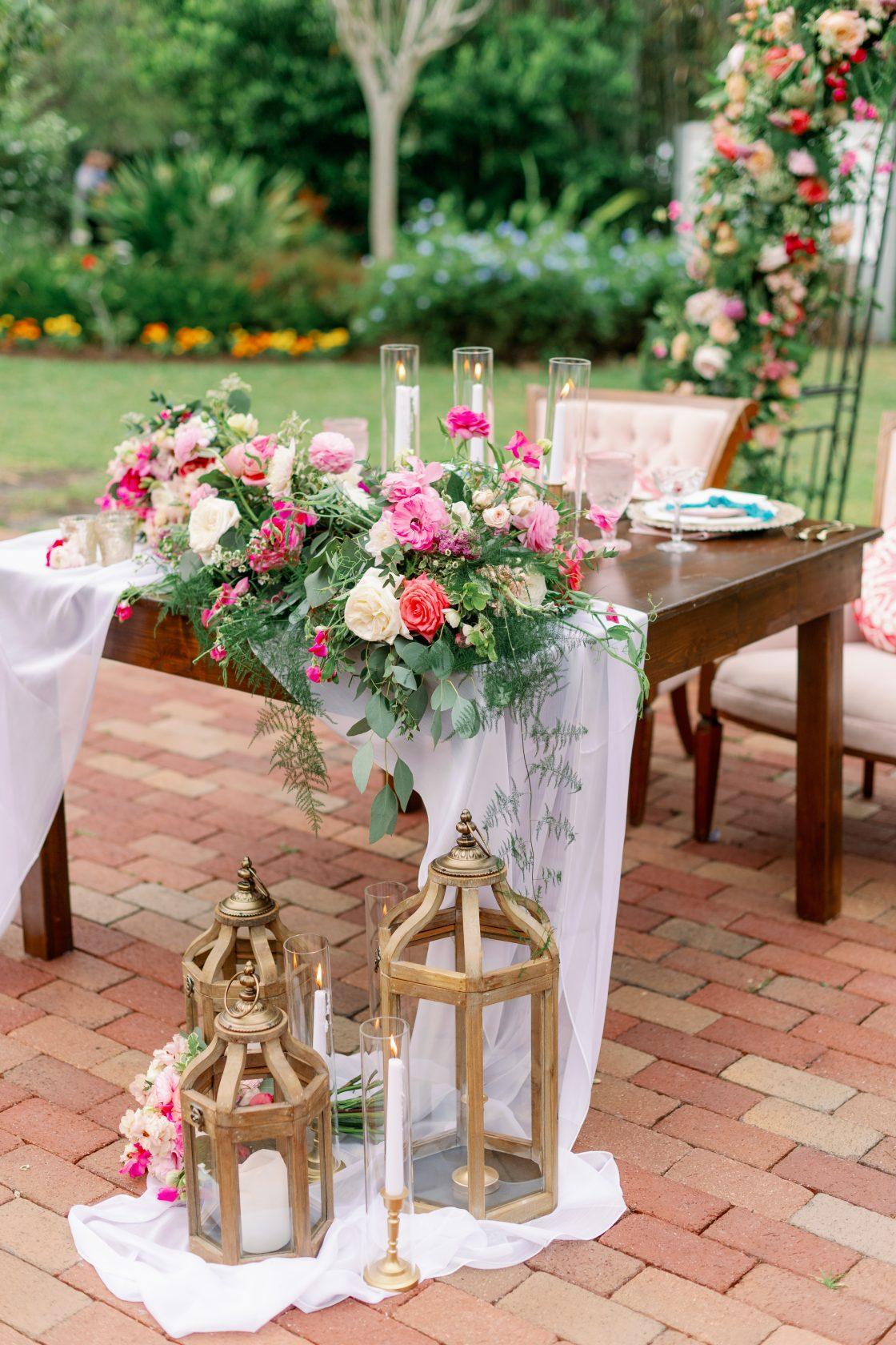 Garden Inspired Sweetheart Table