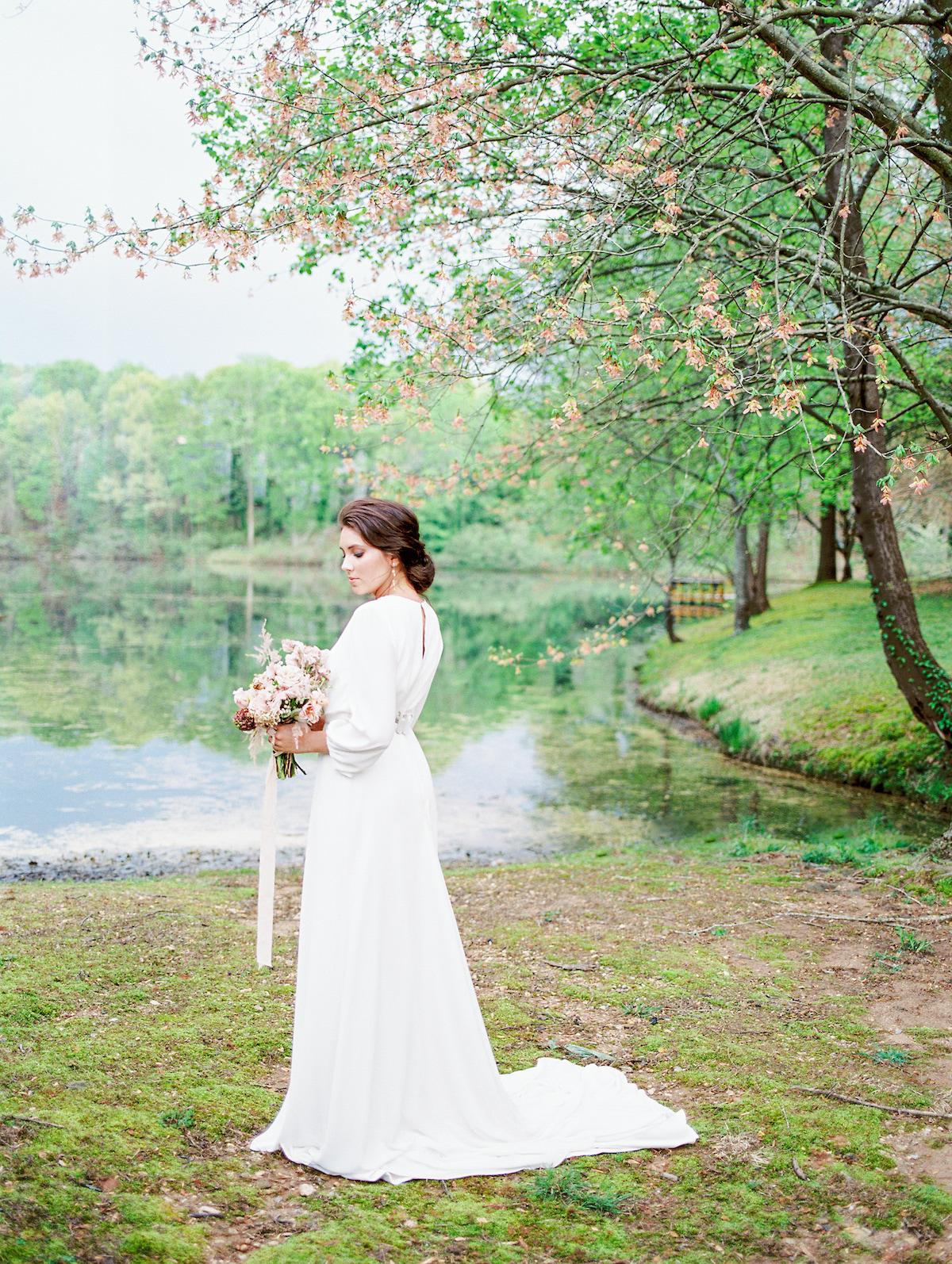 Garden Pond Bridal Portraits