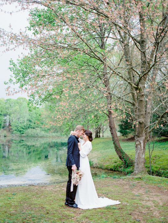 Garden Pond Wedding Photos