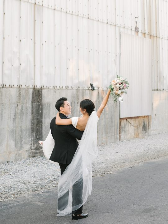Industrial Elegant Wedding Photo