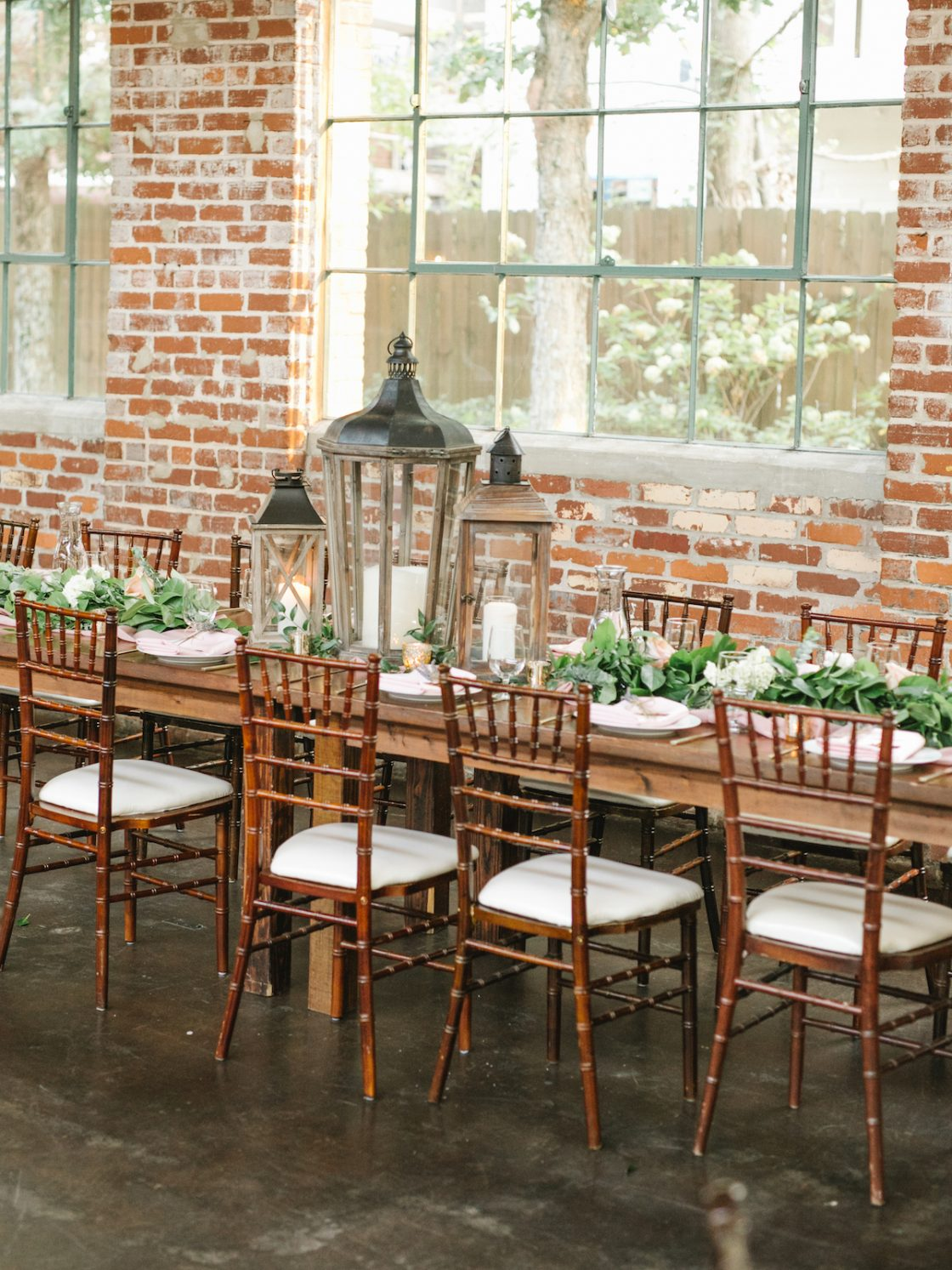 Industrial Rustic Wedding Tablescape