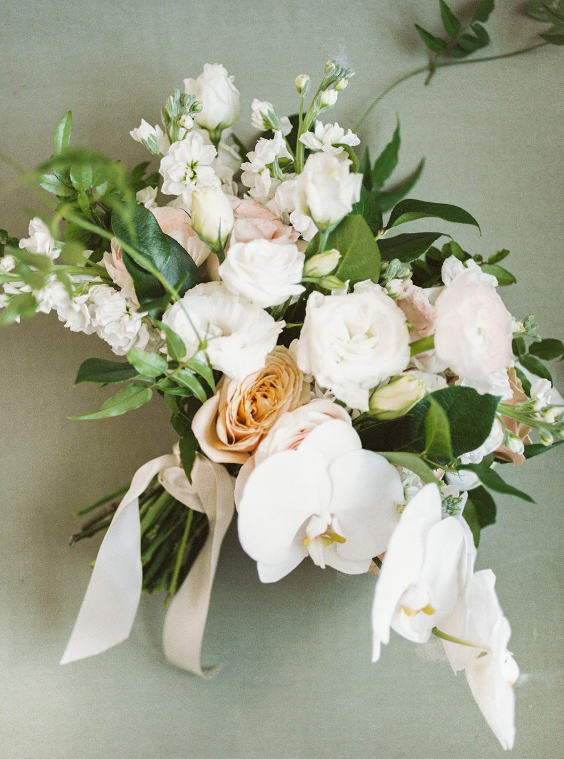 Ivory and Gold Orchid Wedding Bouquet