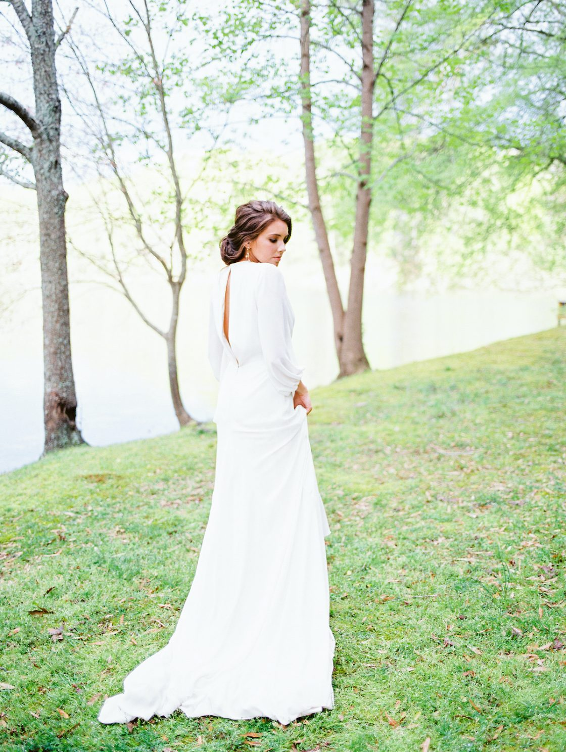 Long Sleeved Wedding Gown