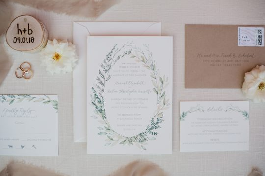 Minimal Rustic Wedding Invitations