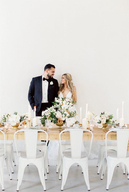 Modern Romantic Wedding Reception