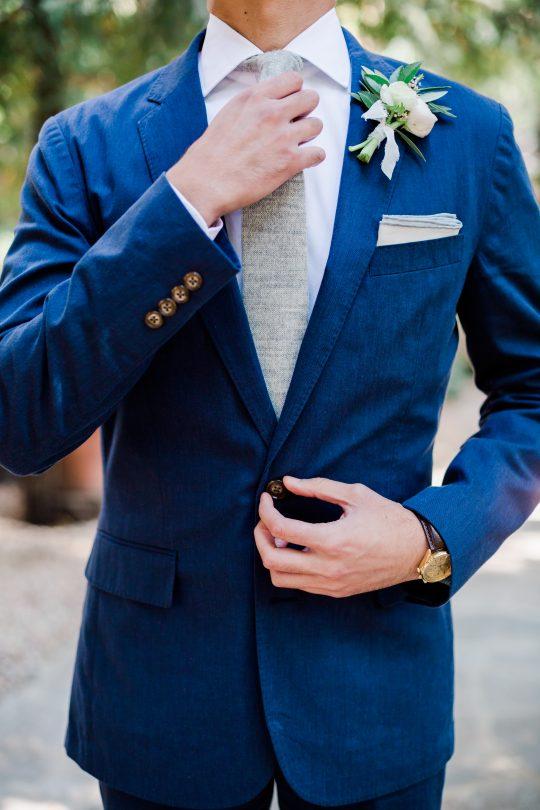 Navy Blue Groom Wedding Suit