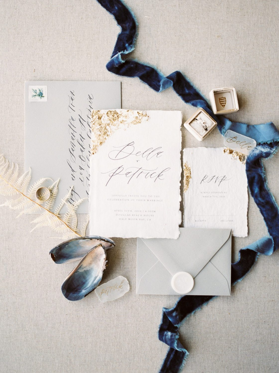 Ocean Inspired Wedding Invitation