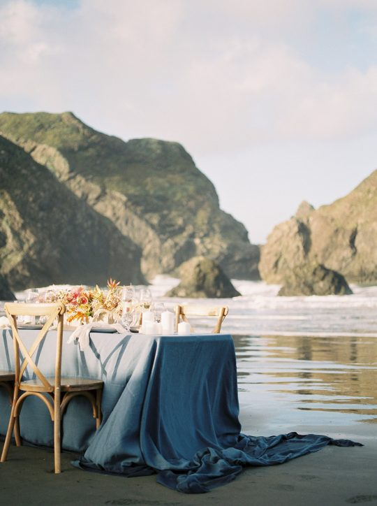 Ocean and Sea Wedding Tablescape