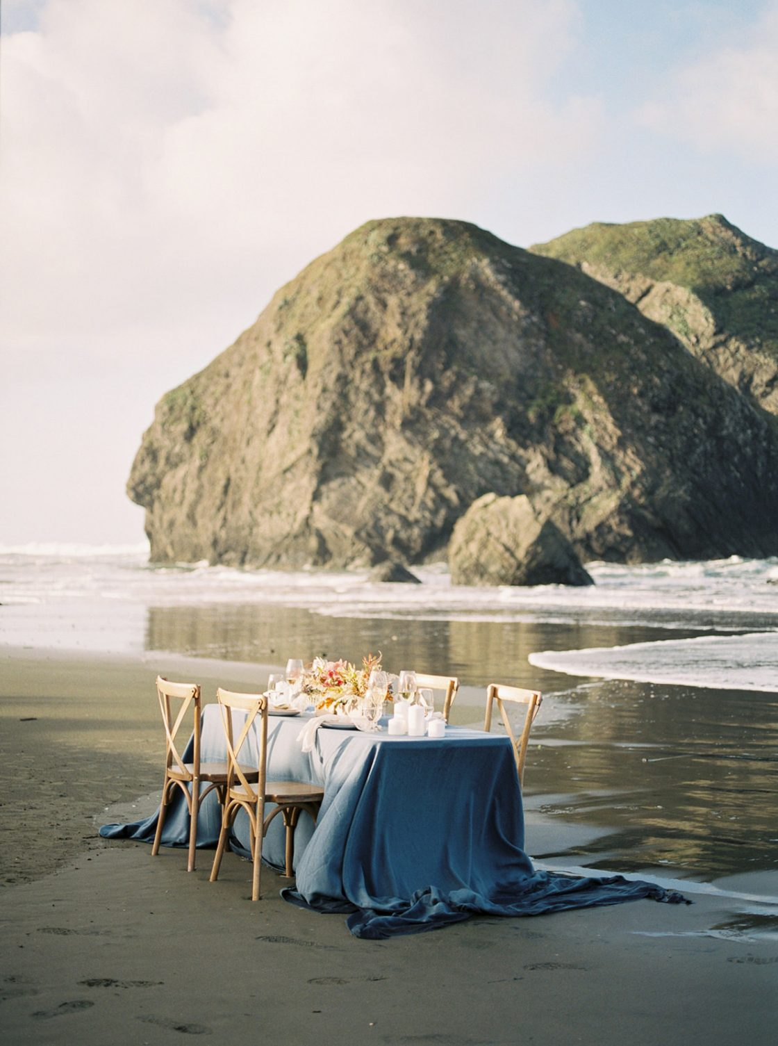 Pacific Coast Wedding Tablescape