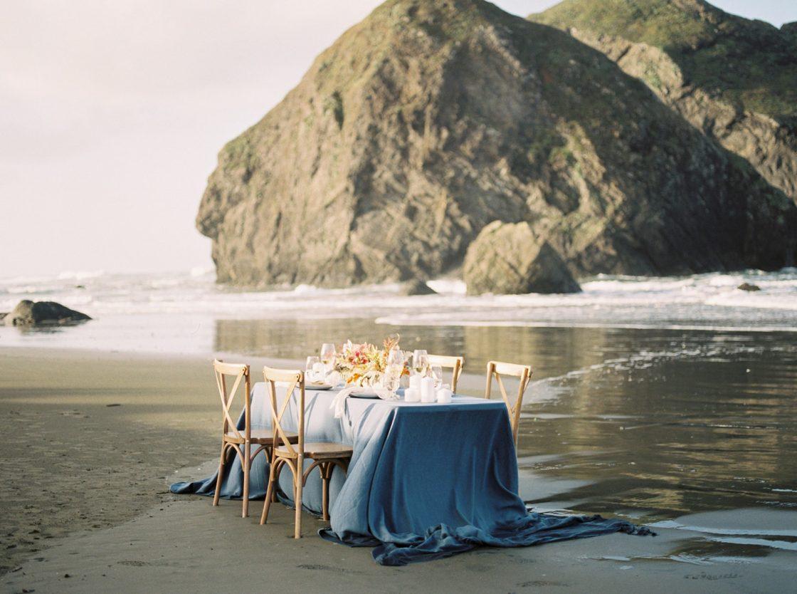Pacific Ocean Wedding Tablescape