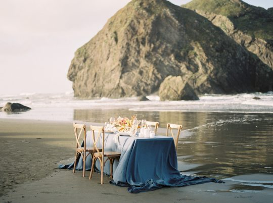 Pacific Ocean Wedding Tablescape
