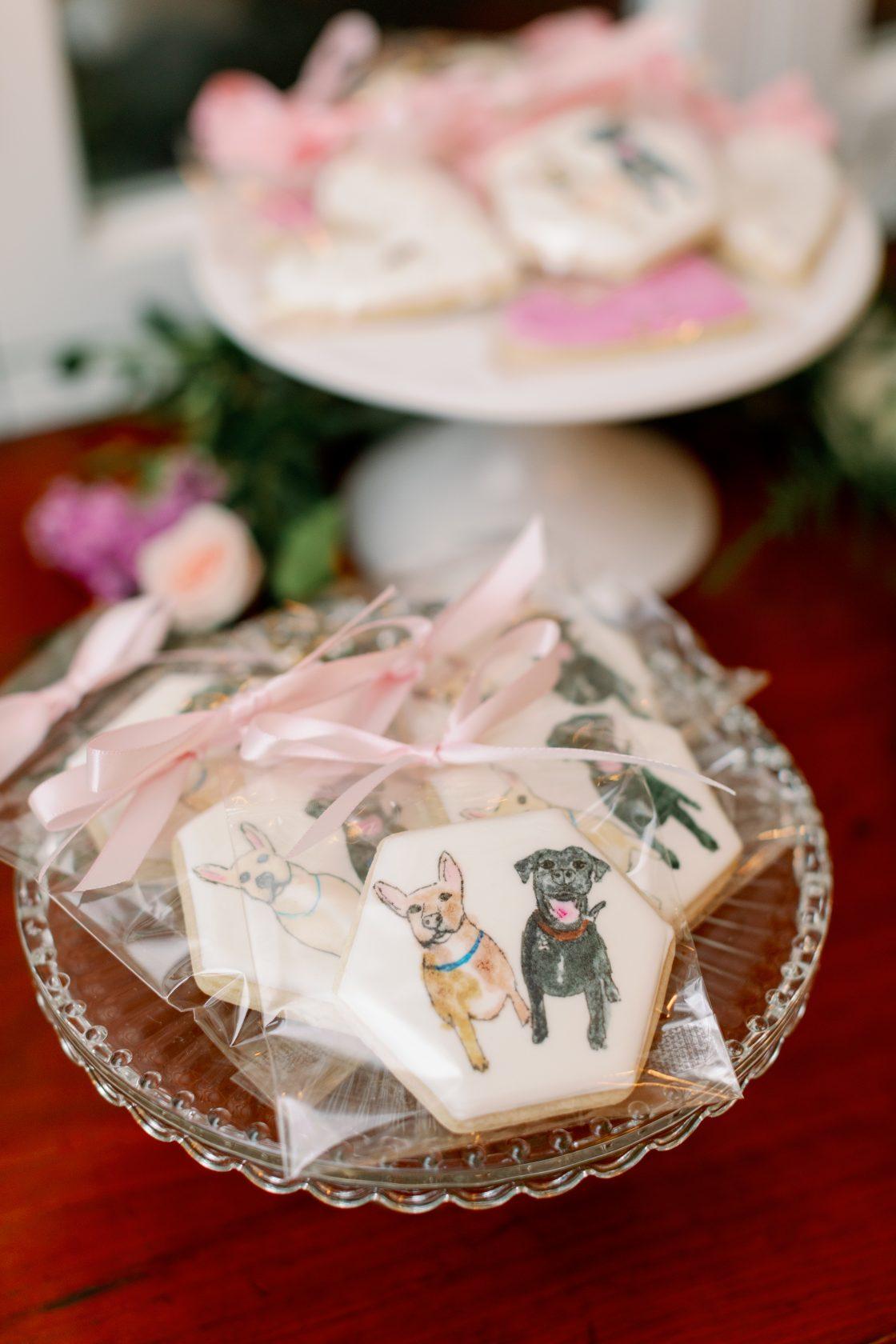 Painted Dog Custom Cookies Wedding Favors