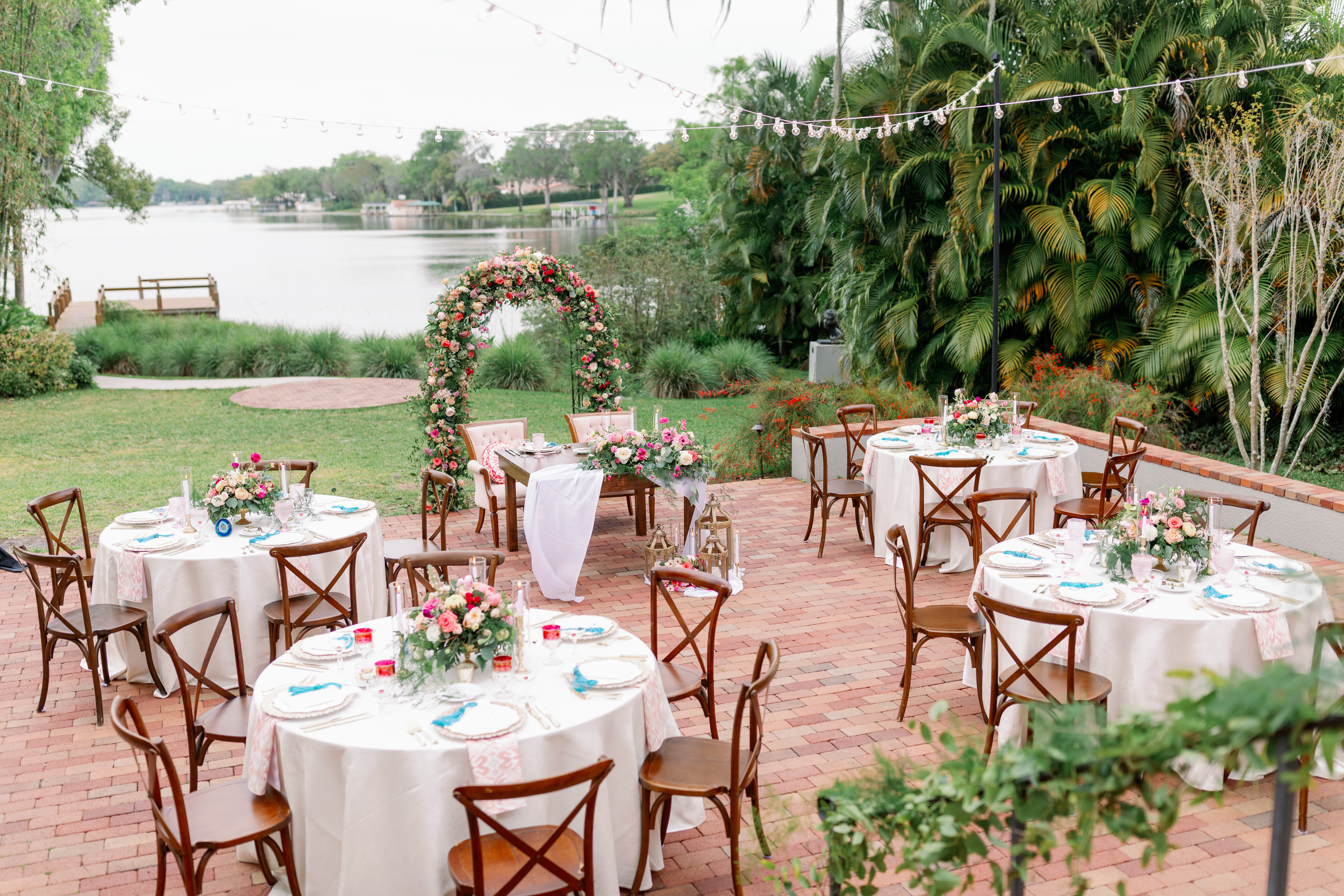 Pink Garden Party Wedding Reception