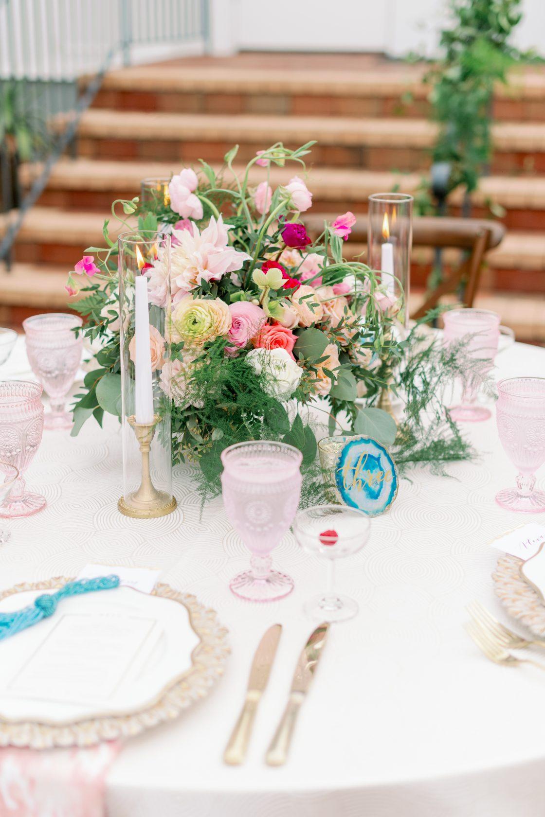 Ranunculus Dahlia Wedding Centerpiece