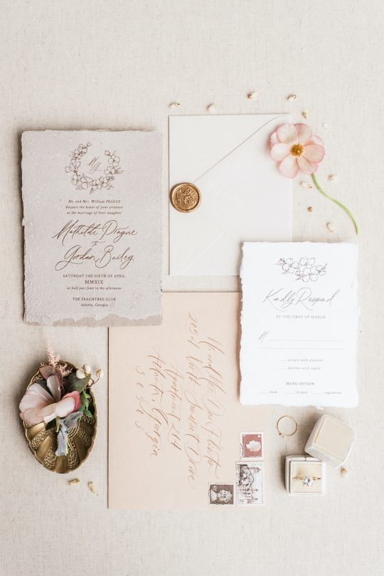 Romantic Earthy Wedding Invitations