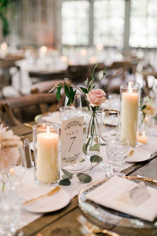Rustic Elegant Minimal Wedding Tablescape