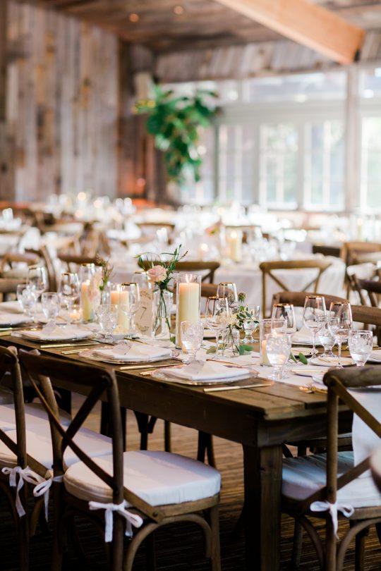 Rustic Ranch Wedding Reception