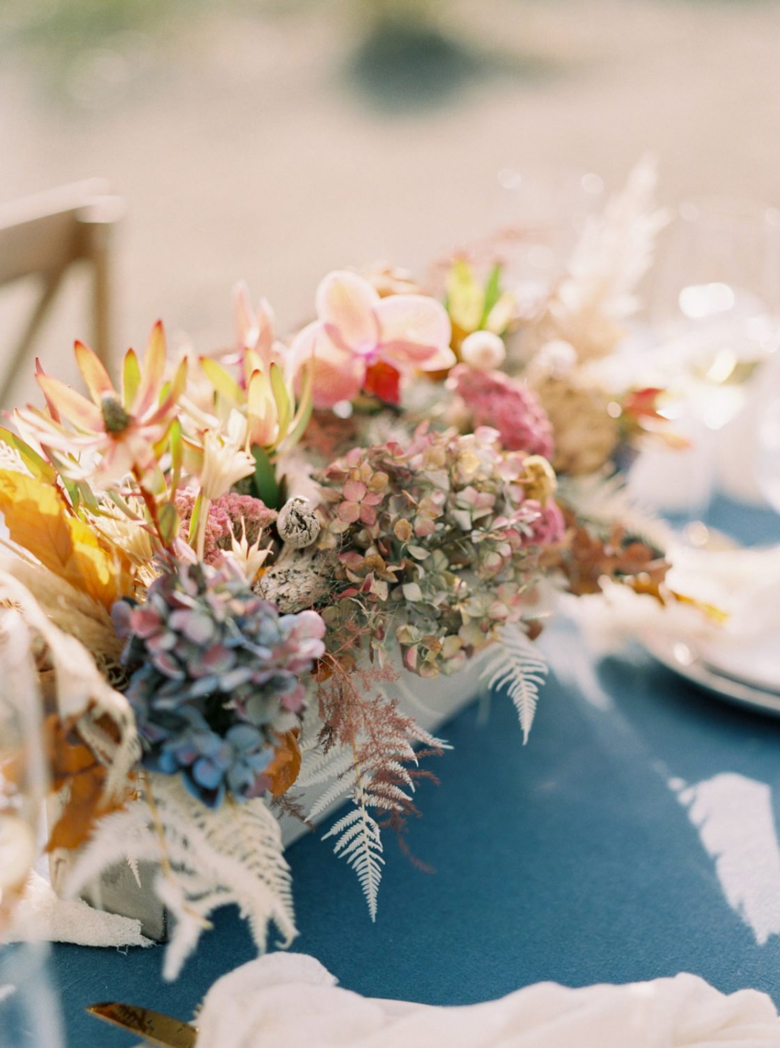 Sandy Driftwood Wedding Centerpiece