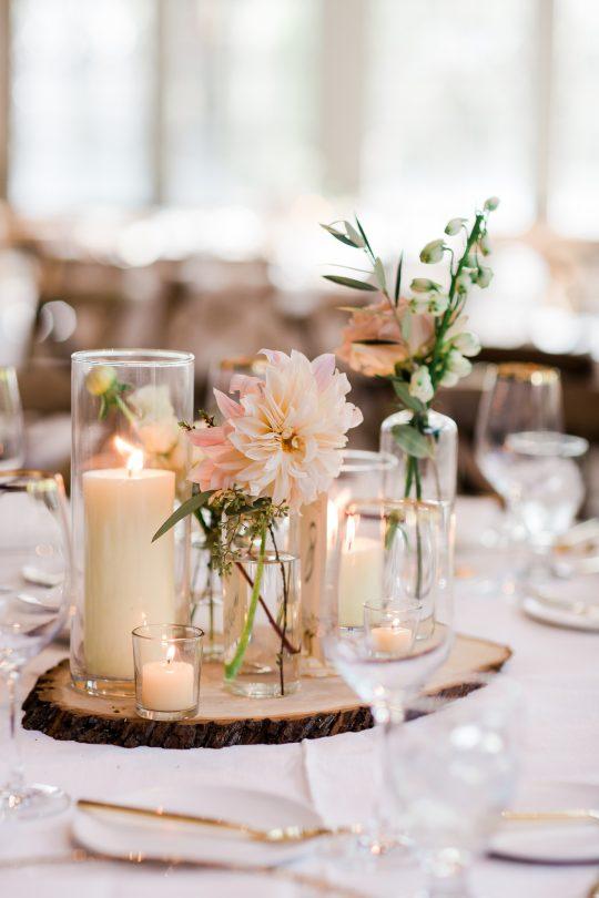 Wood Wedding Reception Details