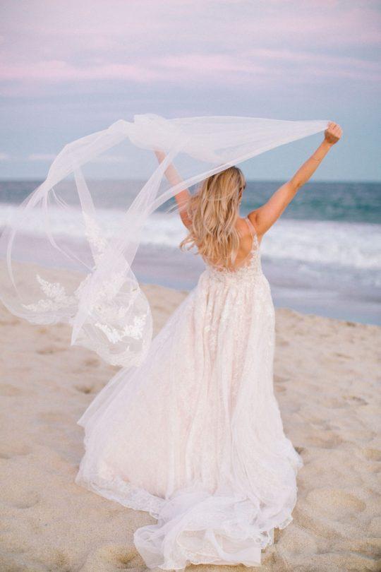Beach Wedding Bridal Photo