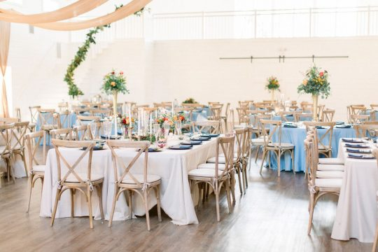 Blue Farmhouse Wedding Reception