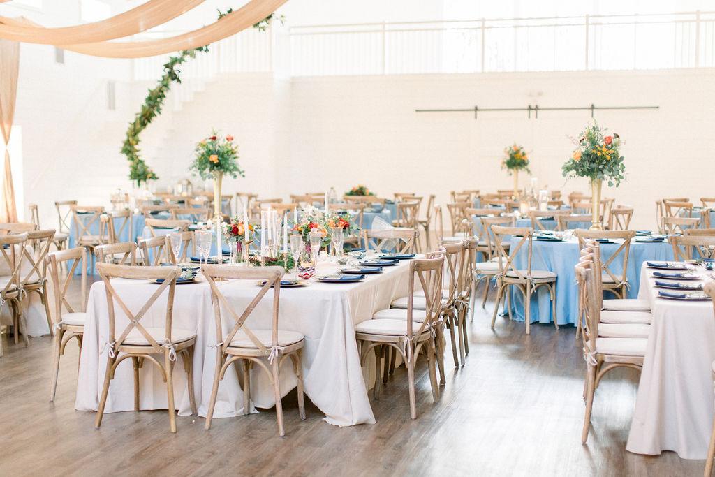 Blue Farmhouse Wedding Reception