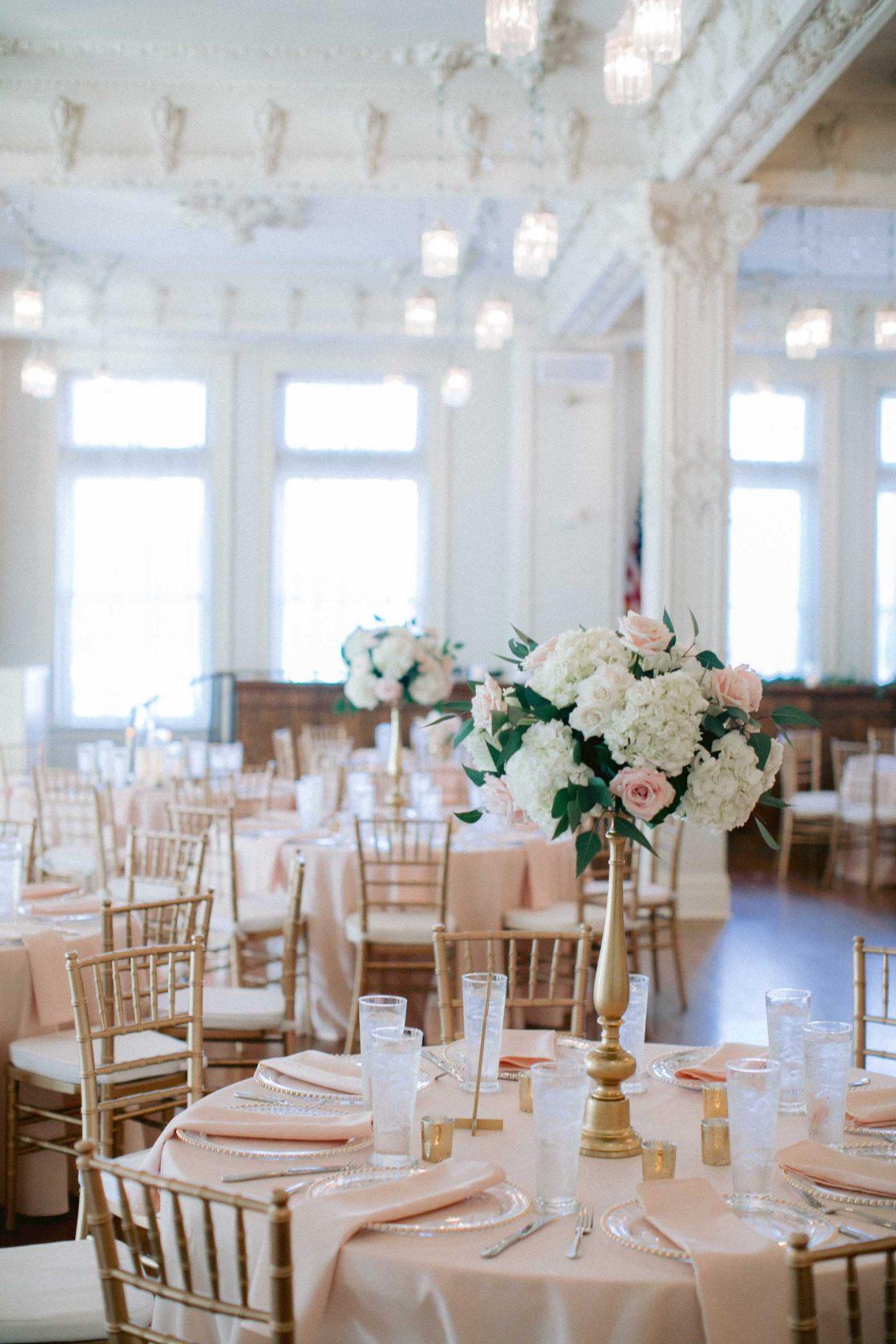 Blush and Ivory Wedding Reception