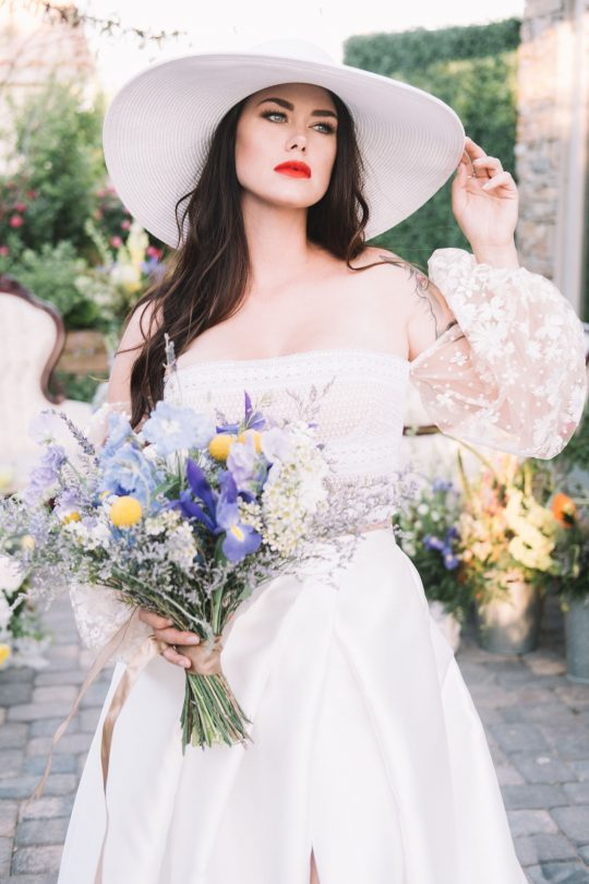 Chic French Blue Wedding Inspiratoin