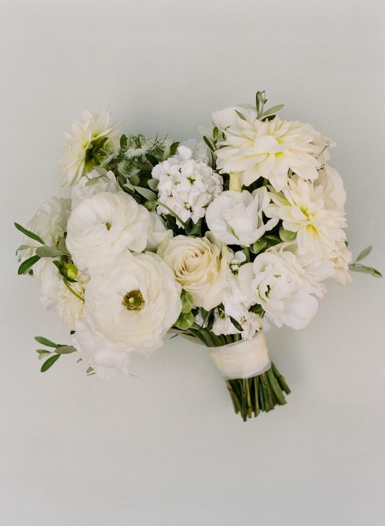 Classic White Ivory Wedding Bouquet