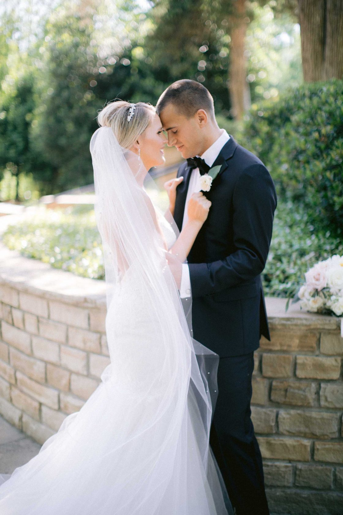 Elegant Romantic Wedding Portrait