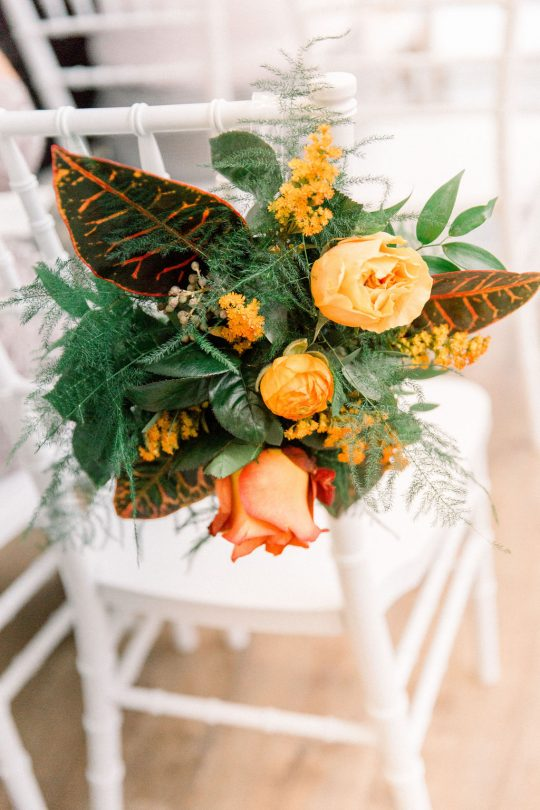 Fall Rose Ceremony Florals