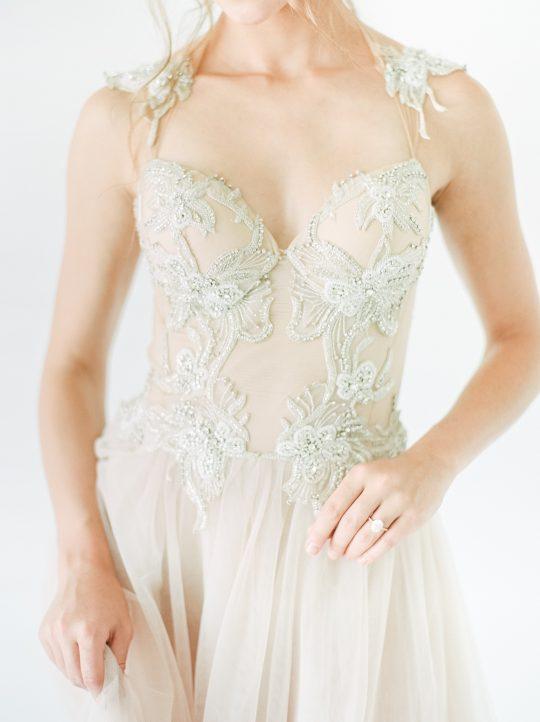 Galia Lahav Beaded Bodice Wedding Gown
