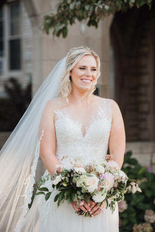 Garden Inspired Wedding Gown