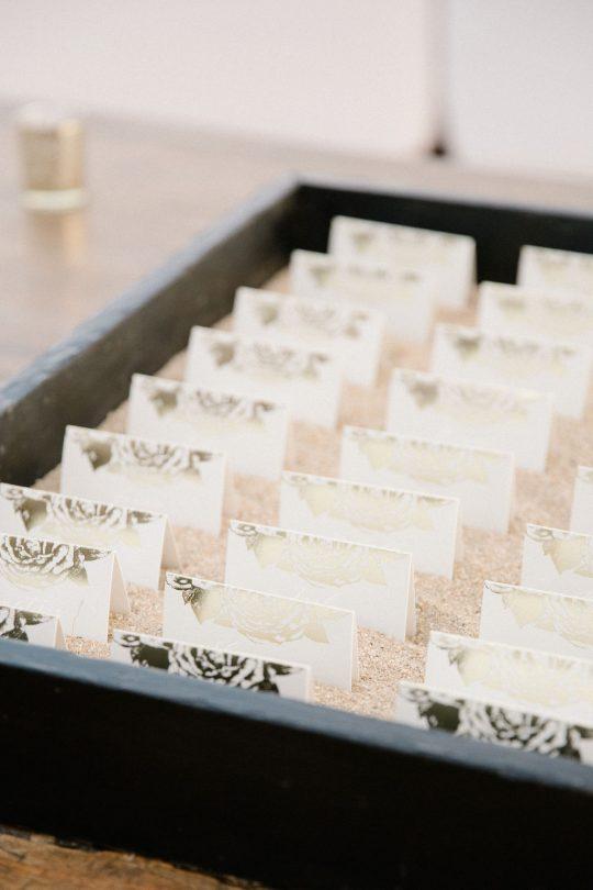 Gold Foil Escort Cards