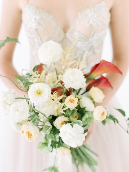 Ivory Peach Rust Wedding Bouquet