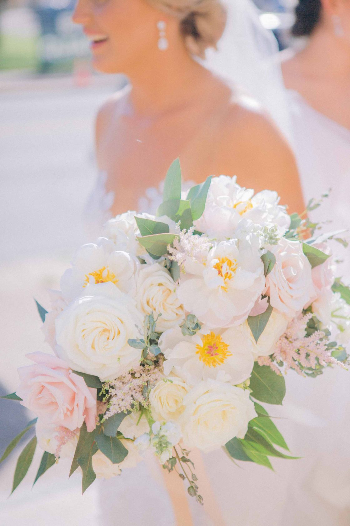 Ivory Rose and Blush Astilbe Wedding Bouquet