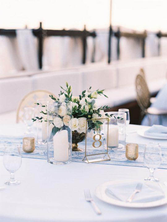 Ivory and Light Blue Wedding reception